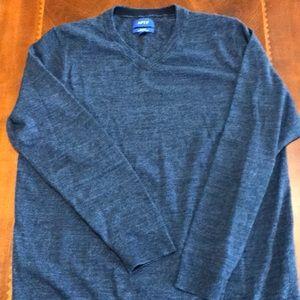 APT. 9 Navy Blue V-Neck Sweater